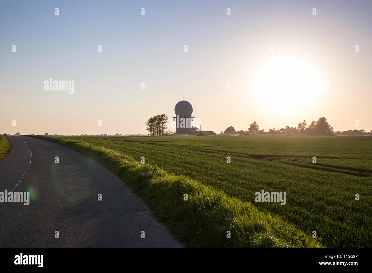 Germany, Ruegen, Cape Arkona, radar station, Air Defence of Air Force - Stock Image