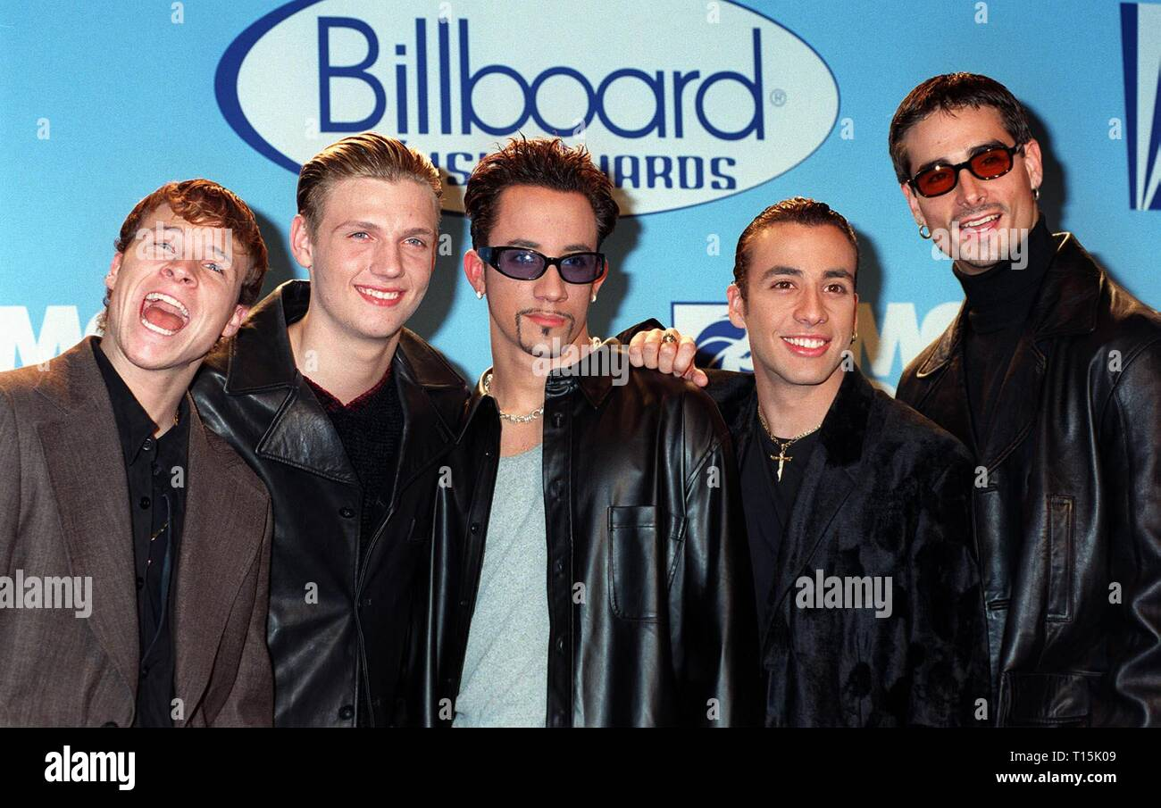 LAS VEGAS, NV. December 09, 1997: Pop group BACK STREET BOYS