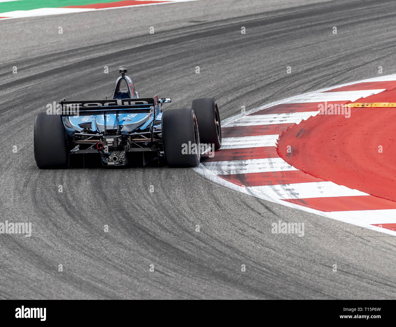March 23, 2019 - Austin, Texas, U.S. - MAX CHILTON (59) of England goes through the turns during practice for the INDYCAR Classic at Circuit Of The Americas in Austin, Texas. (Credit Image: © Walter G Arce Sr Asp Inc/ASP) - Stock Image
