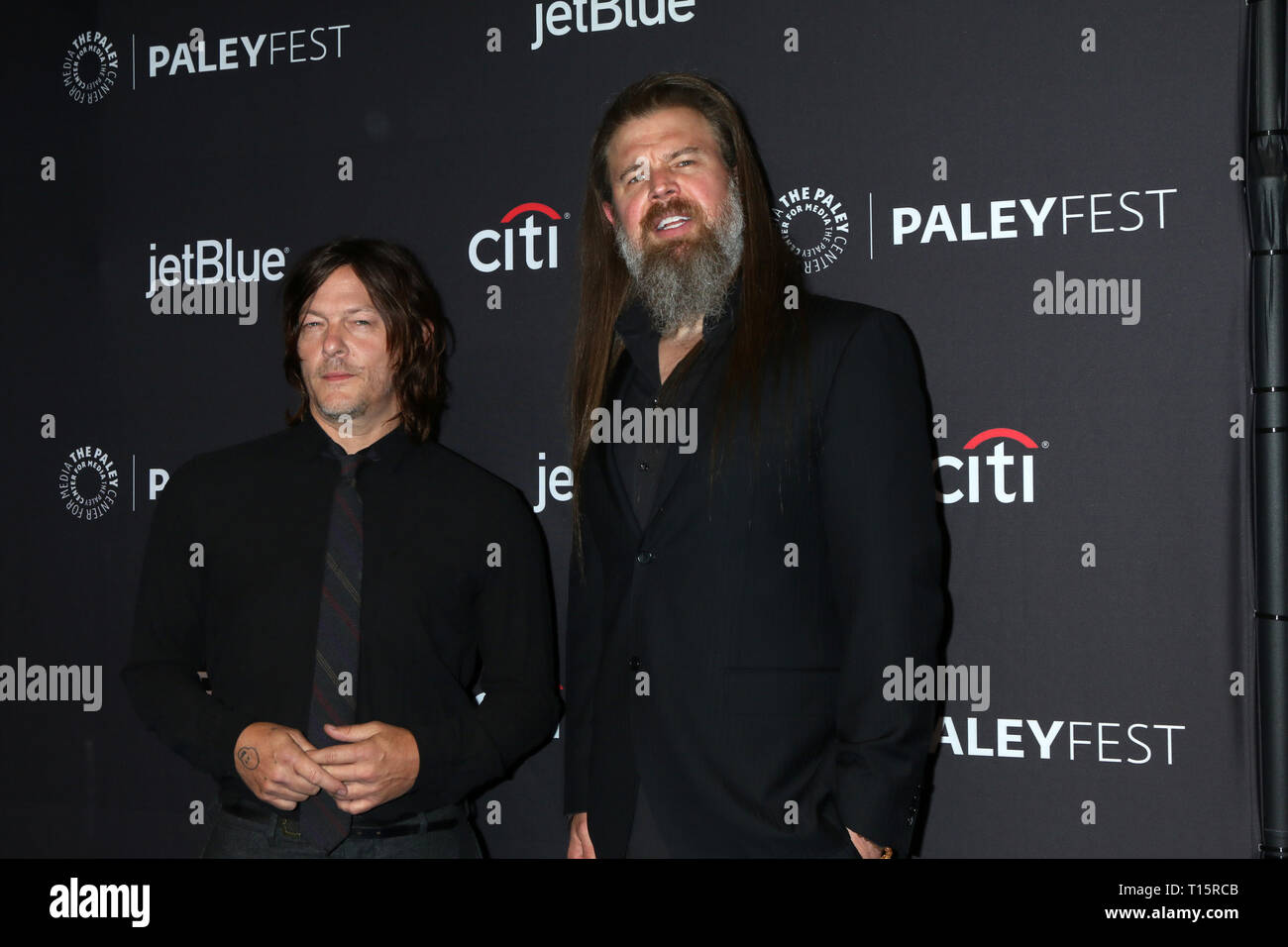 Los Angeles, CA, USA. 22nd Mar, 2019. LOS ANGELES - MAR 22: Norman Reedus, Ryan Hurst at the PaleyFest - ''The Walking Dead'' Event at the Dolby Theater on March 22, 2019 in Los Angeles, CA Credit: Kay Blake/ZUMA Wire/Alamy Live News - Stock Image
