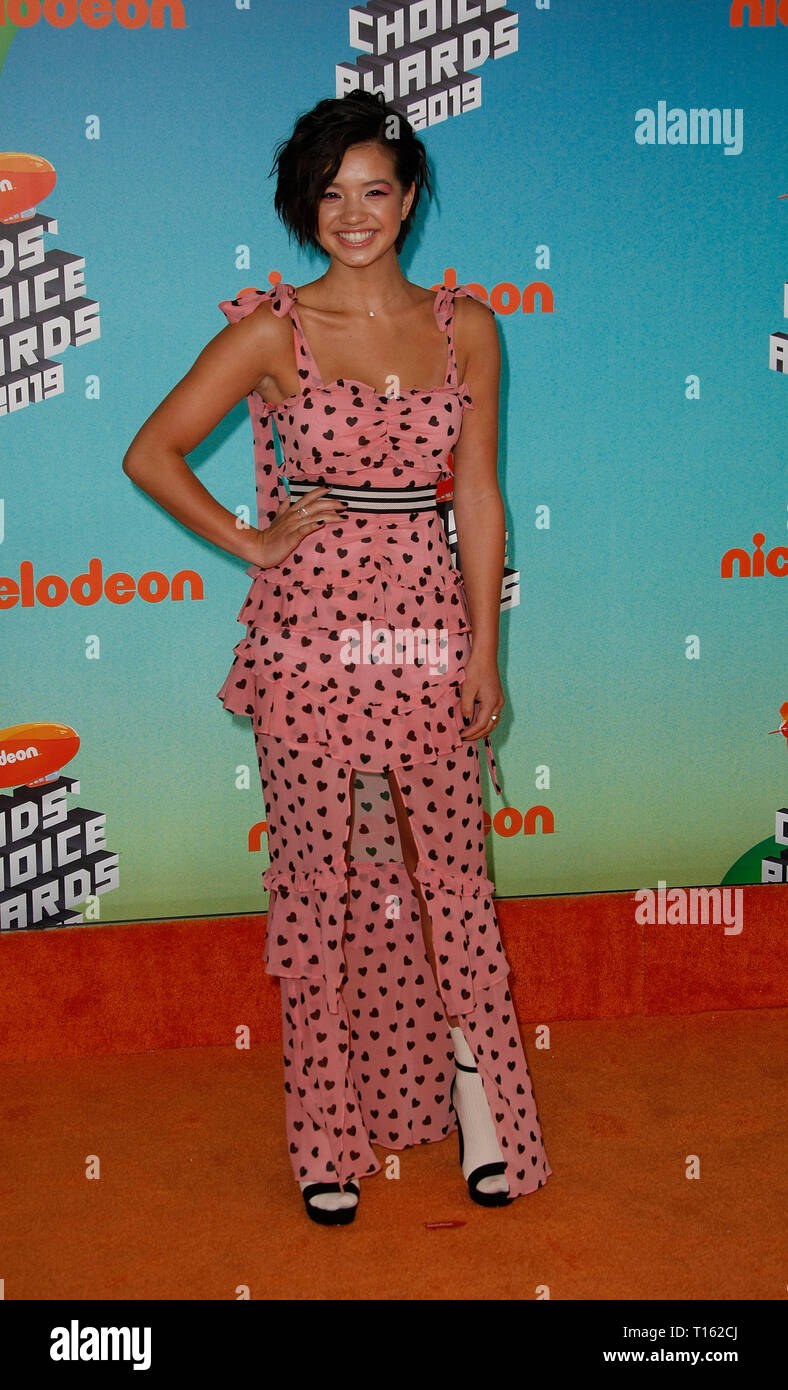 Los Angeles, USA. 23rd Mar, 2019. Peyton Elizabeth Lee attends Nickelodeon's 2019 Kids' Choice Awards at Galen Center on March 23, 2019 in Los Angeles, California. Photo: imageSPACE Credit: Imagespace/Alamy Live News - Stock Image