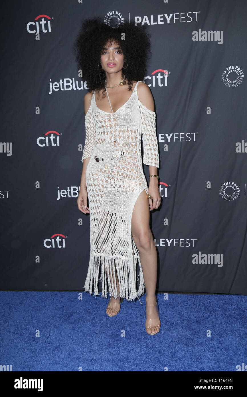 Los Angeles, USA. 23rd March 2018. Los Angeles, California -Indya Moore. The Paley Center For Media's 2019 PaleyFest LA - FX's ''Pose'' held at Dolby Theater. Photo Credit: PMA/AdMedia Credit: Pma/AdMedia/ZUMA Wire/Alamy Live News Stock Photo