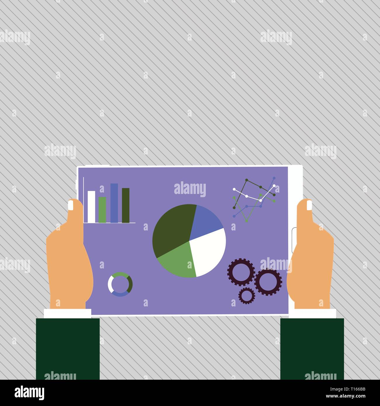 Hands Holding Tablet with Search Engine Optimization Driver