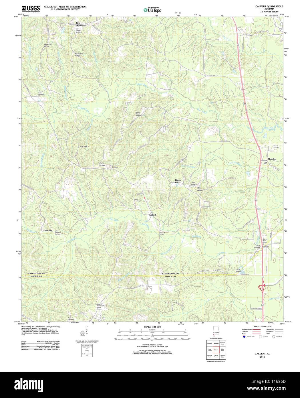Geological Map Of Alabama Stock Photos & Geological Map Of Alabama