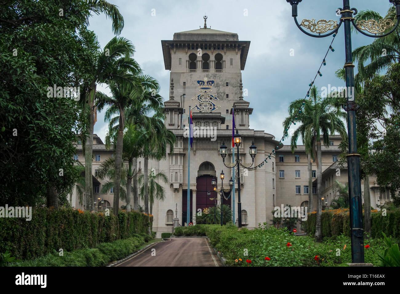 Exterior of the looming Bangunan Sultan Ibrahim government building
