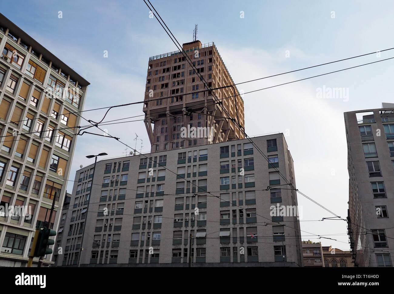 Milano, Piazza Velasca - Stock Image