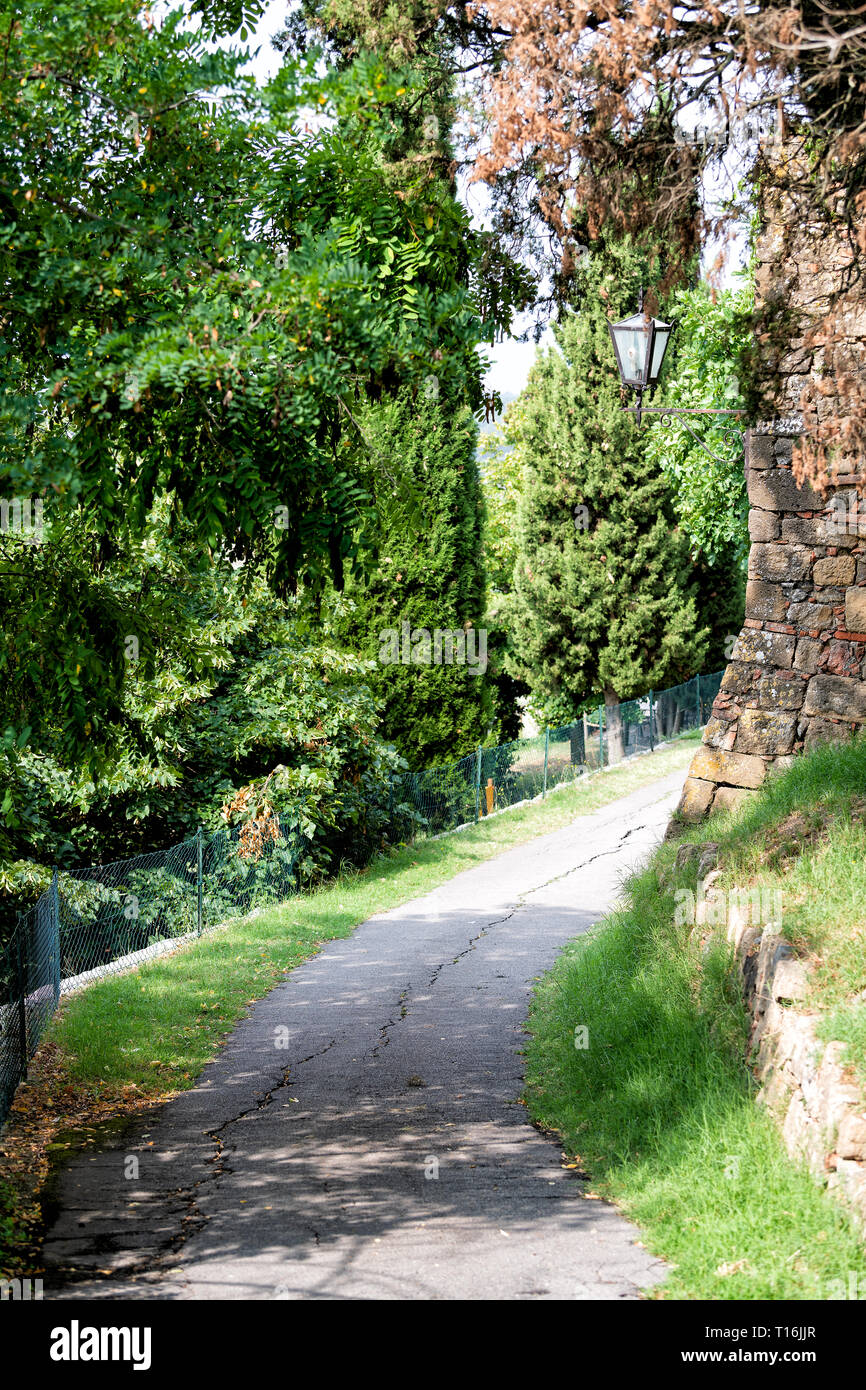 Portland S Dignity Village Cleared Path For Seattle S: Spring Garden Path Vertical Nobody Stock Photos & Spring