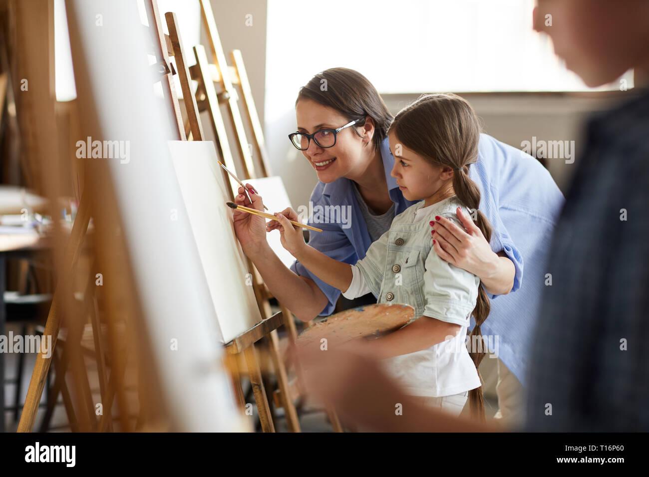 Art Class for Children Stock Photo