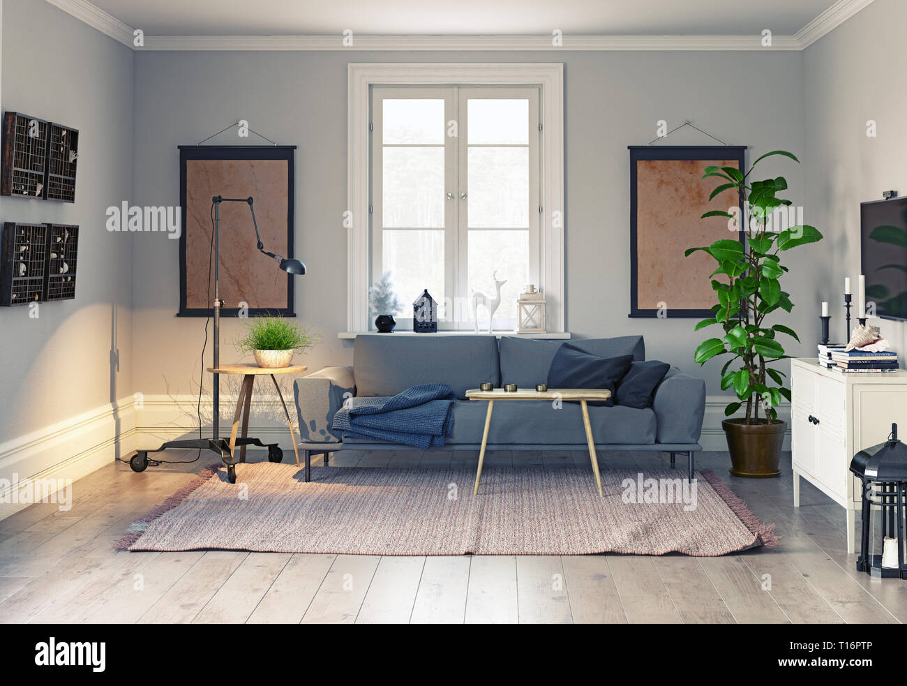 Modern Scandinavian Style Interior Design 3d Illustration Concept Stock Photo Alamy,Tribal Sleeve Tattoo Designs