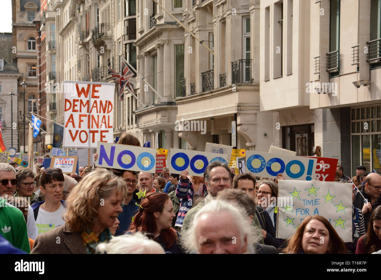 Put it to the People March in London Saturday 23rd March 2019. - Stock Image