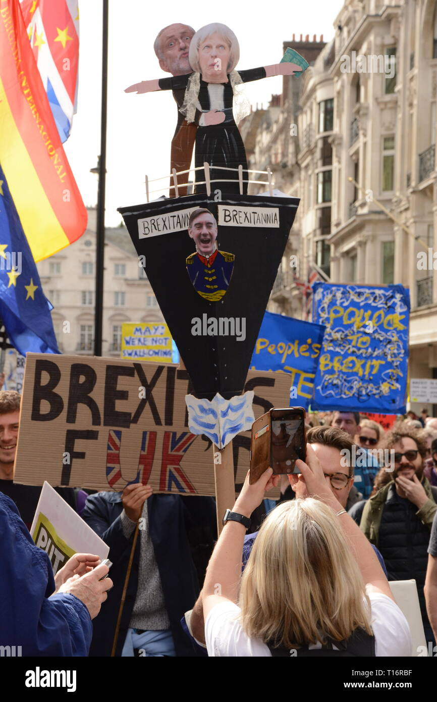 Put it to the People March in London Saturday 23rd March 2019. Stock Photo