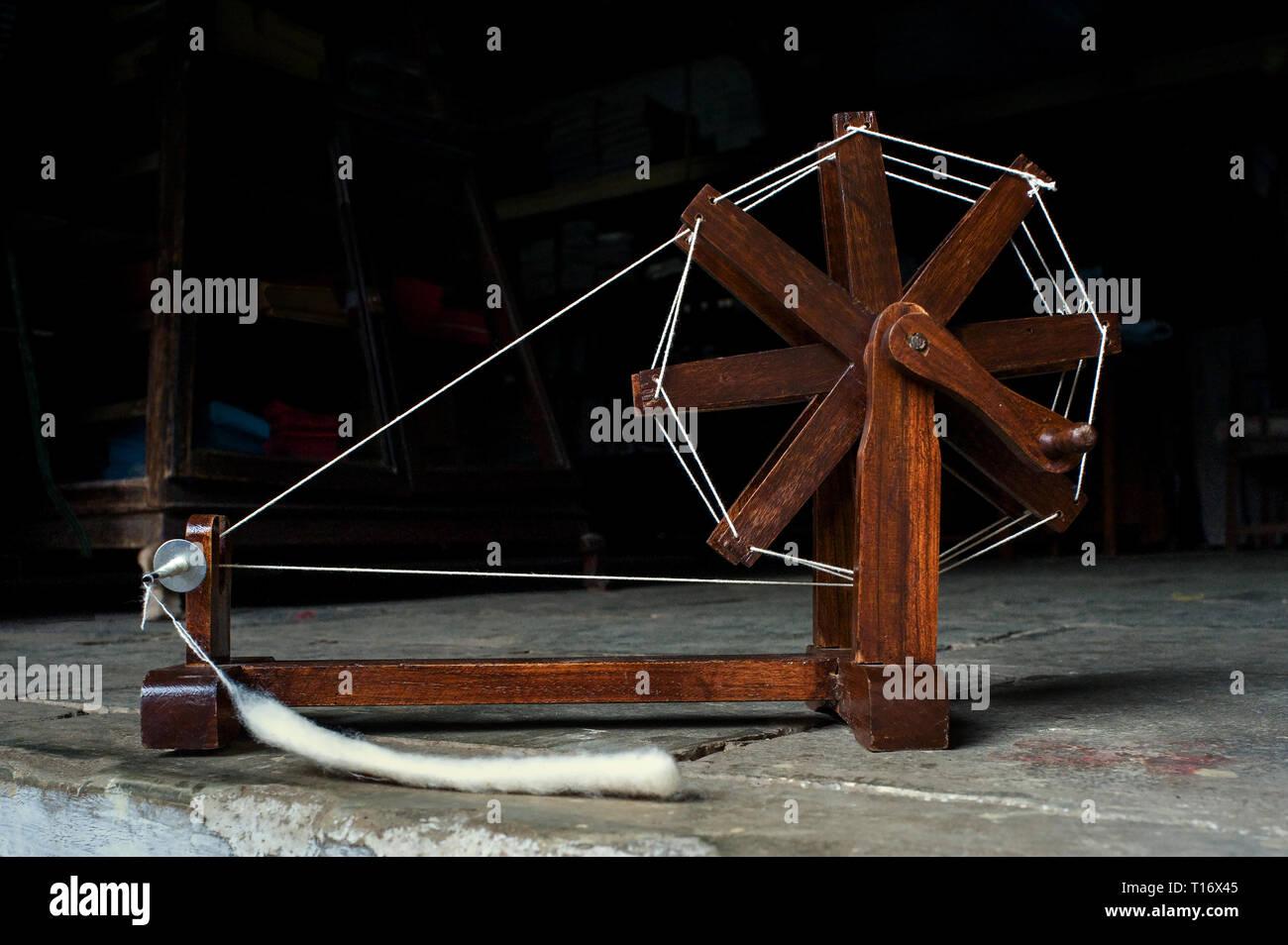 09-12-2010- Mahatma Gandhi charkha spinning wheel Ahmedabad