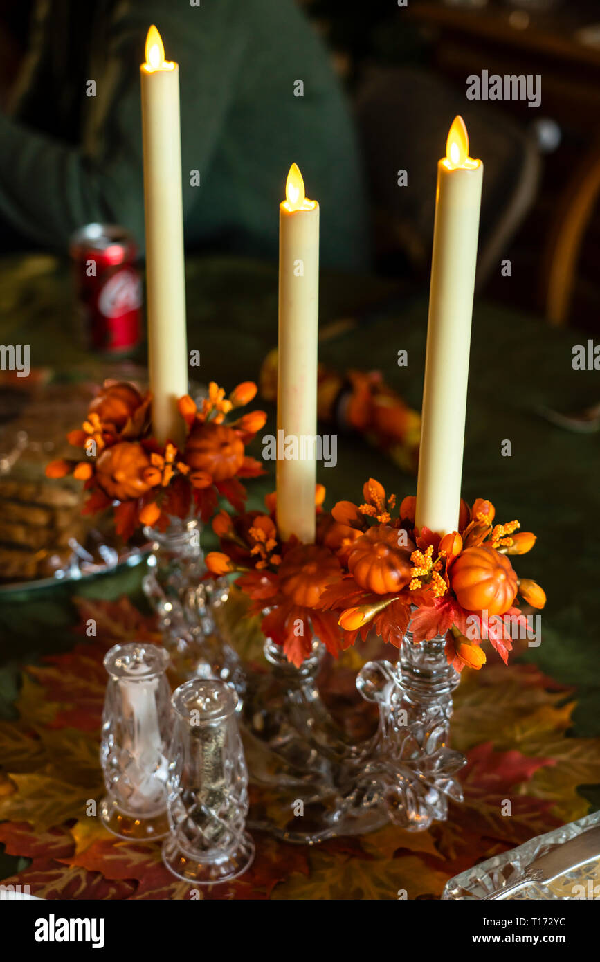 Thanksgiving table centerpiece - Stock Image