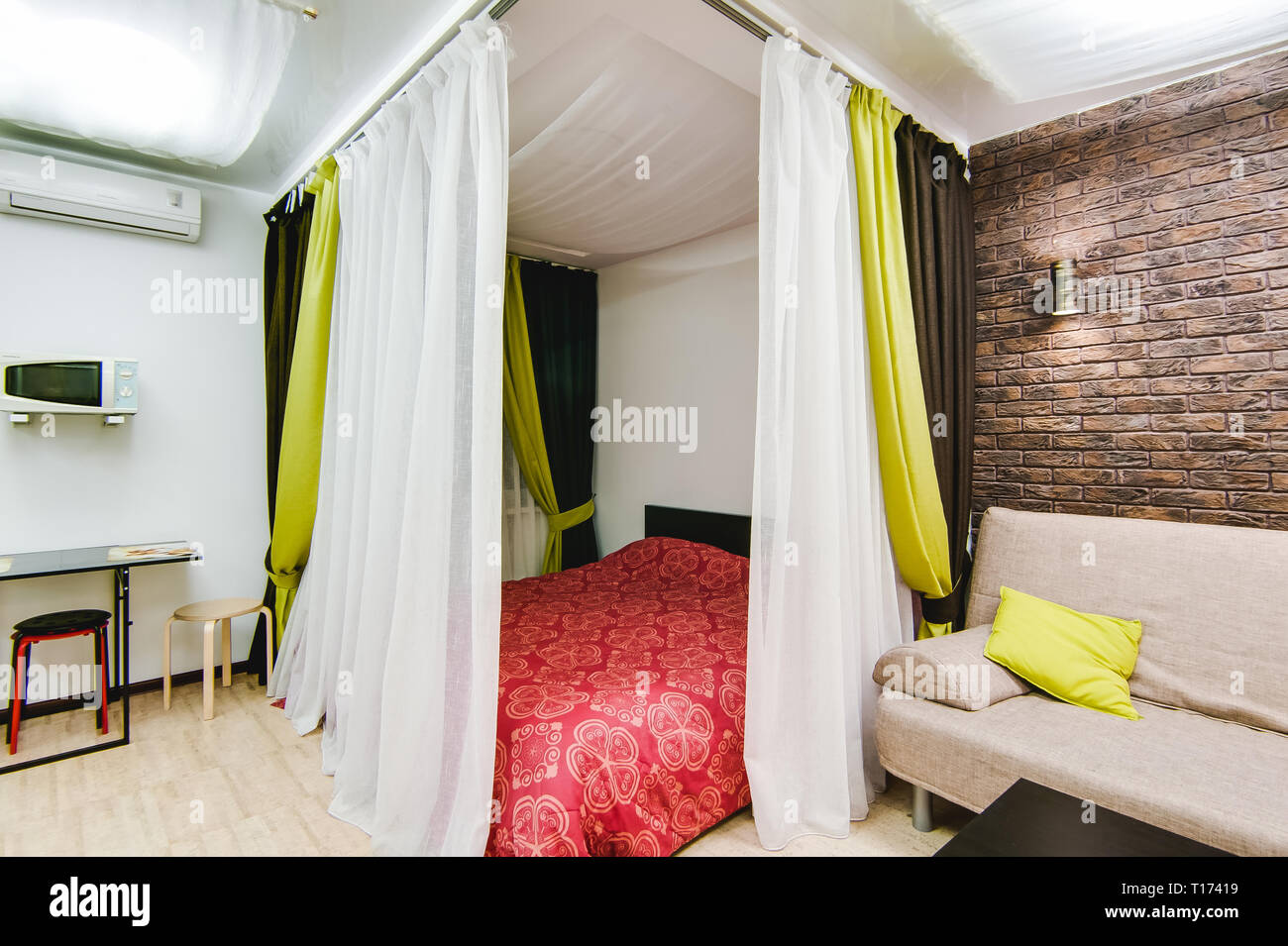 Russia Novosibirsk 12 December 2017 Interior Room Apartment Modern Small Cozy Studio Apartment Stock Photo Alamy