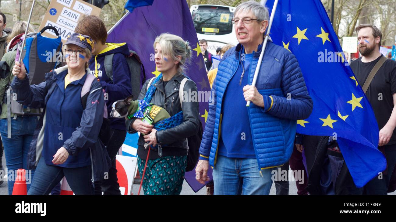 Revoke Article 50 Brexit march through London - Stock Image