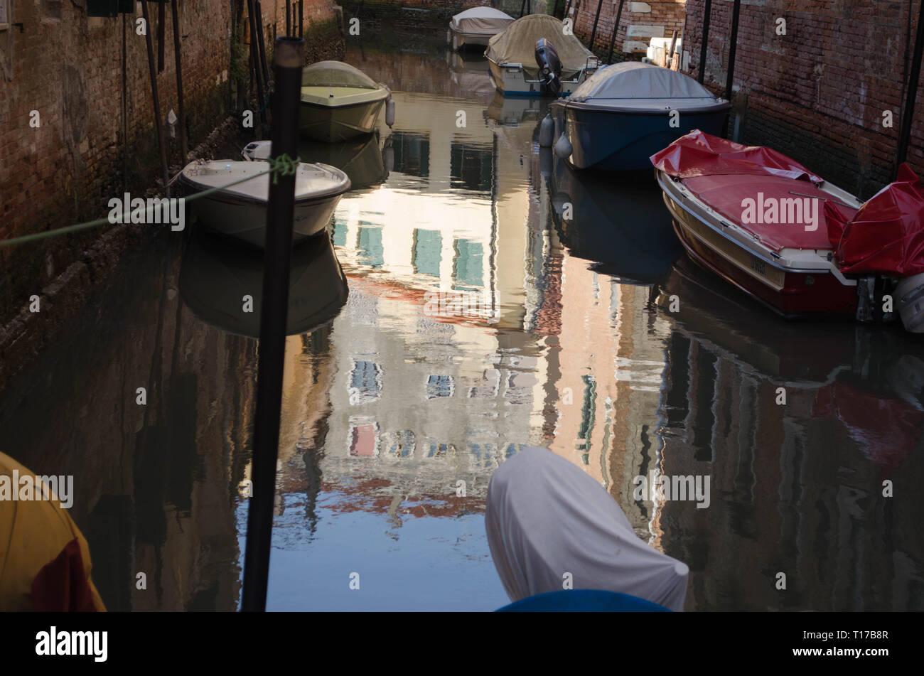 venezia fotografia panoramica riflessi nel acqua Stock Photo
