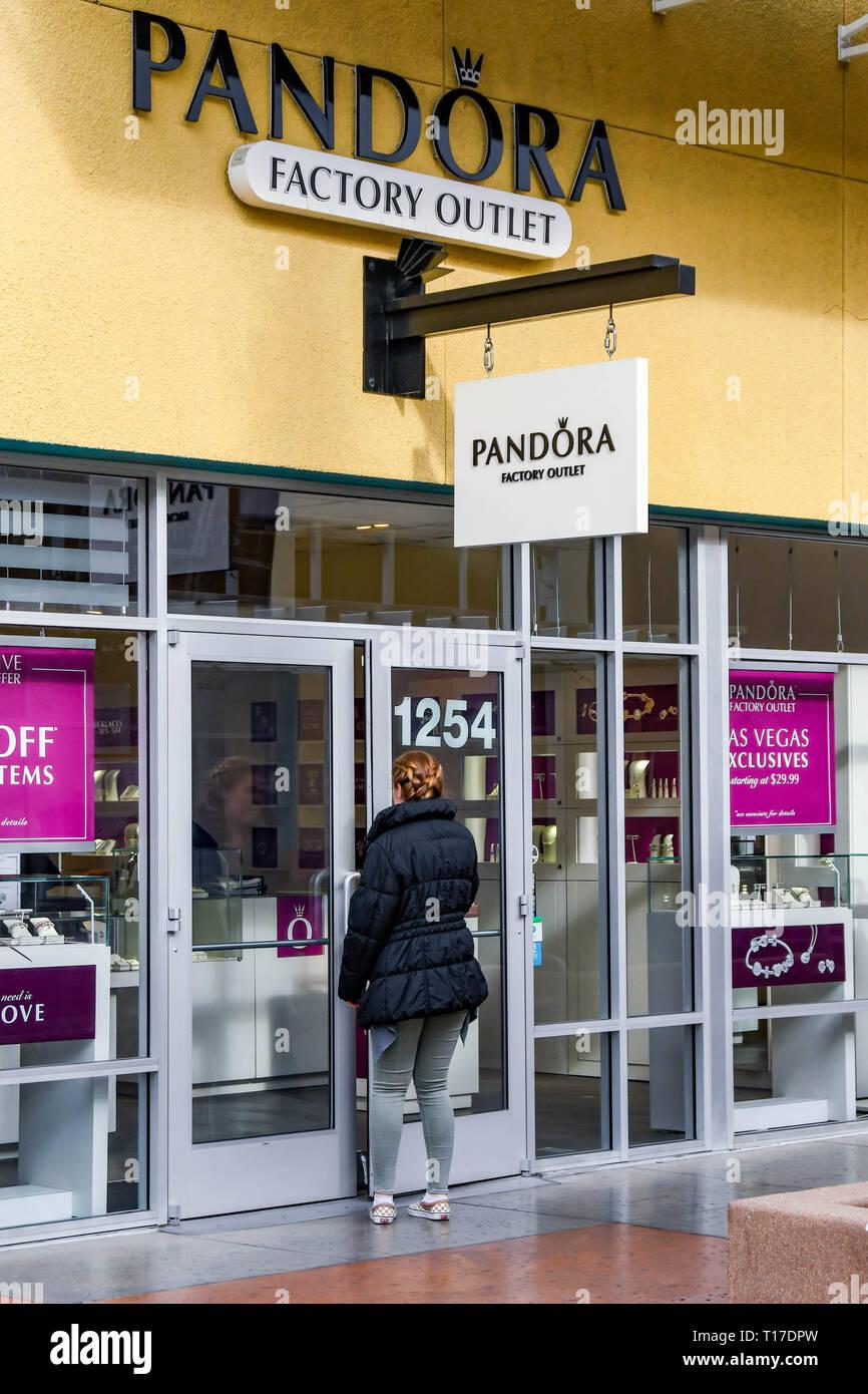 LAS VEGAS, NV, USA - FEBRUARY 2019: Person entering the Pandora ...