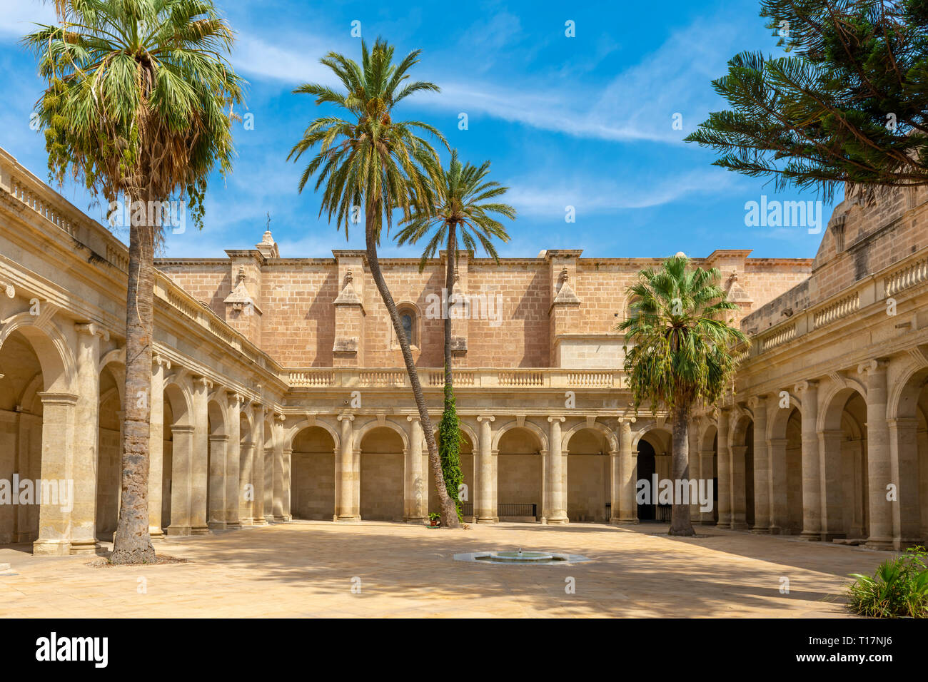it is a rectangular neoclassical cloister, with four galleries, it was undertaken between 1785 and 1797, the entrance from the temple, is located in t Stock Photo