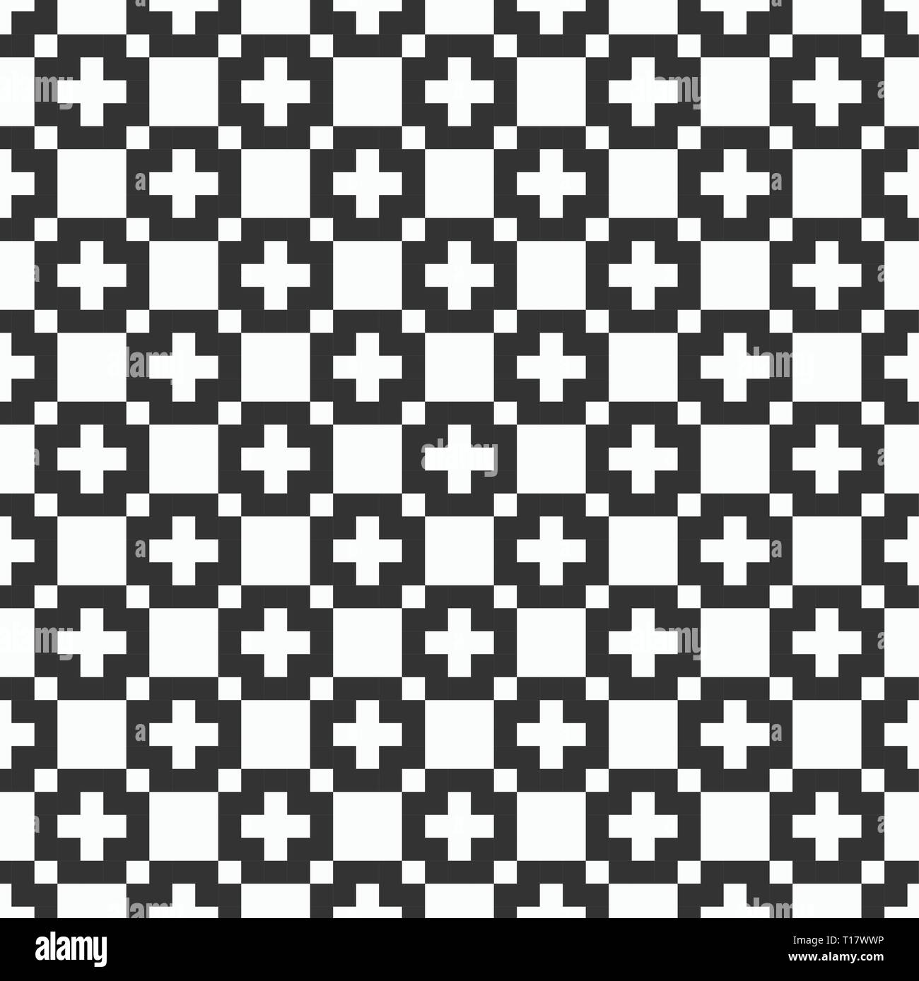 Vector Seamless Pattern Simple Texture Of Squares Stylish