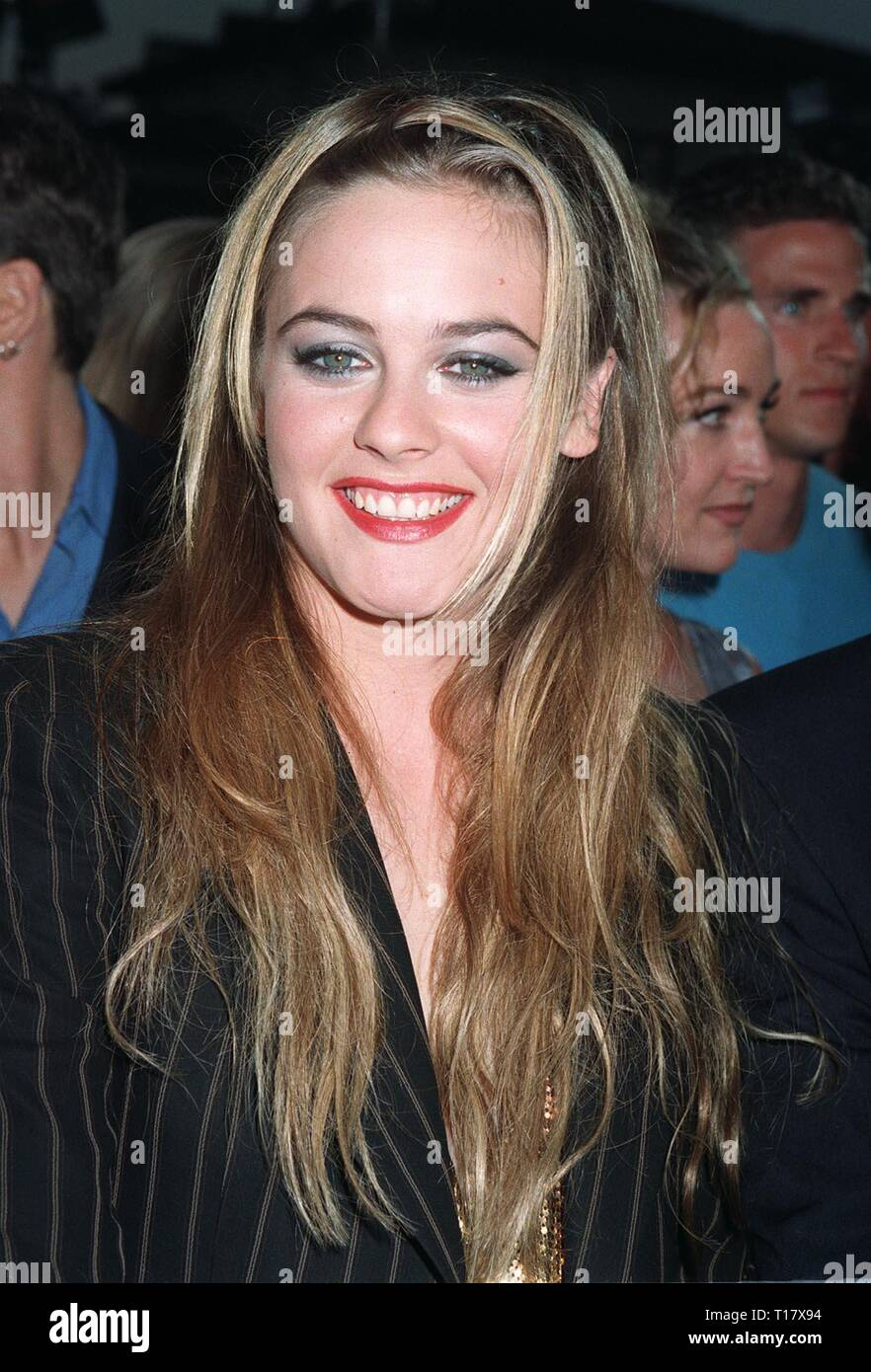 LOS ANGELES, CA. August 25, 1997: Actress Alicia Silverstone at premiere of her new movie, 'Excess Baggage,' which she also co-produced. - Stock Image