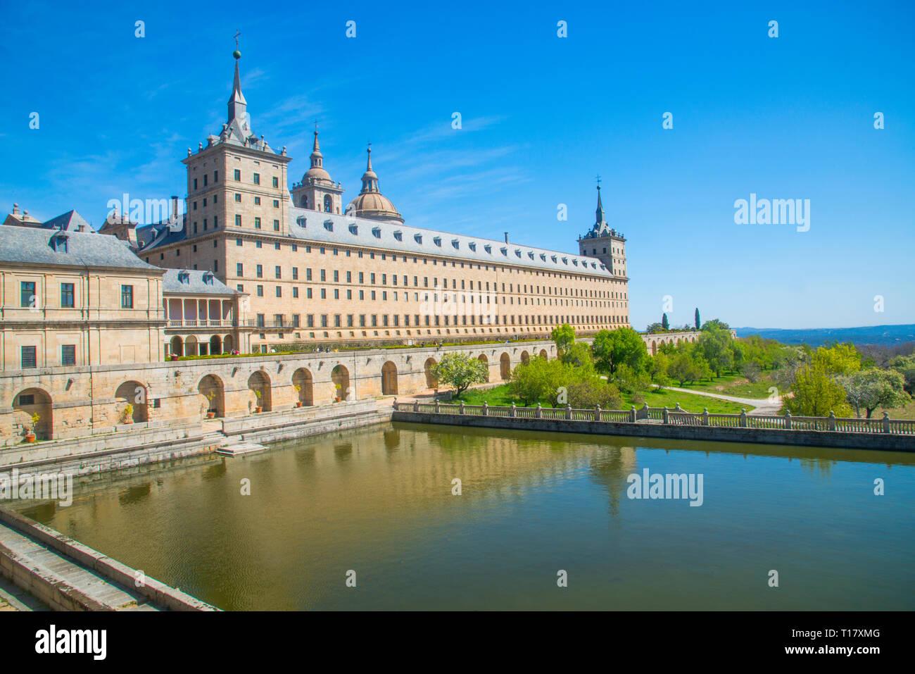Royal Monastery. San Lorenzo del Escorial, Madrid province, Spain. - Stock Image