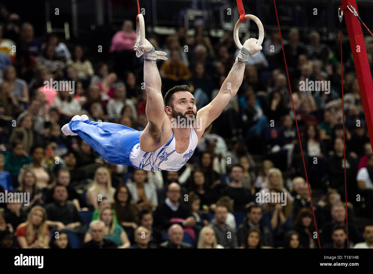 London, UK. 23rd Mar, 2019. during the Matchroom Multisport presents the 2019 Superstars of Gymnastics at The O2 Arena on Saturday, 23 March 2019. LONDON ENGLAND. Credit: Taka Wu/Alamy Live News Stock Photo