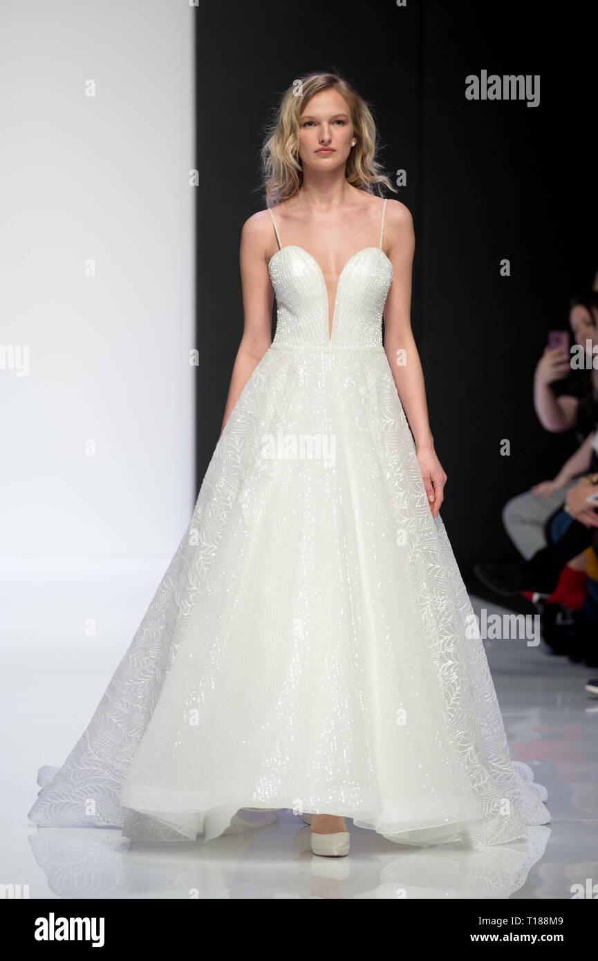 London, UK. 24th Mar 2019. LBFW London Bridal Fashion Week at ExCel London, UK. 24th Mar, 2019. by Credit: Artur Kula/Alamy Live News Stock Photo