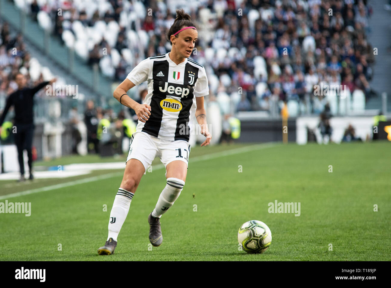 Turin, Italy. 24th Mar, 2019. Arianna Caruso of Juventus Women during Juventus Women vs Fiorentina Women. Juventus Women won 1-0 at Allianz Stadium, in, Italy., . Credit: Alberto Gandolfo/Alamy Live News Stock Photo