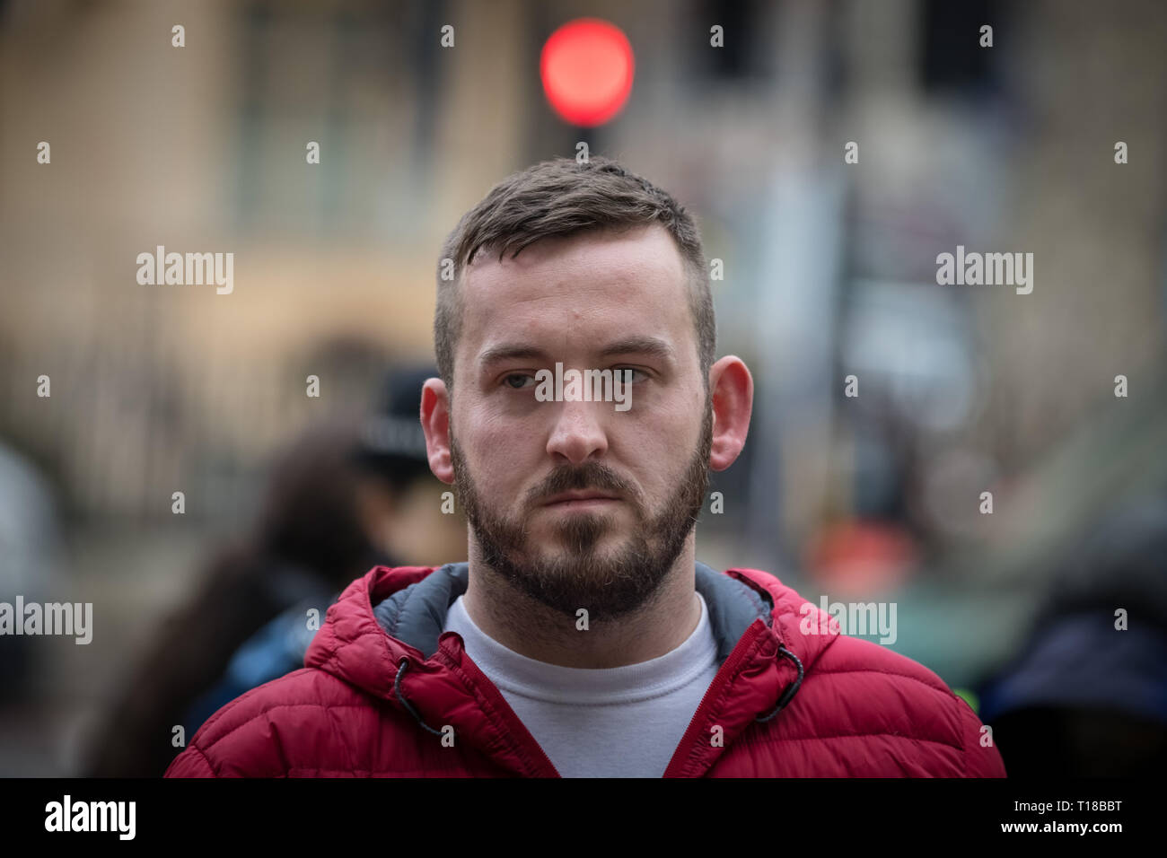 London, UK. 19th March 2019. James Goddard arrives at Westminster Magistrates' Court. Credit: Guy Corbishley/Alamy Live News - Stock Image