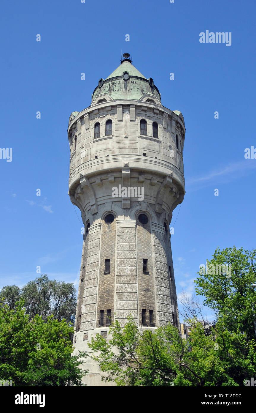 Watchtower of Ujpest, Budapest, Hungary. Ujpesti viztorony, Budapest, Magyarország. - Stock Image