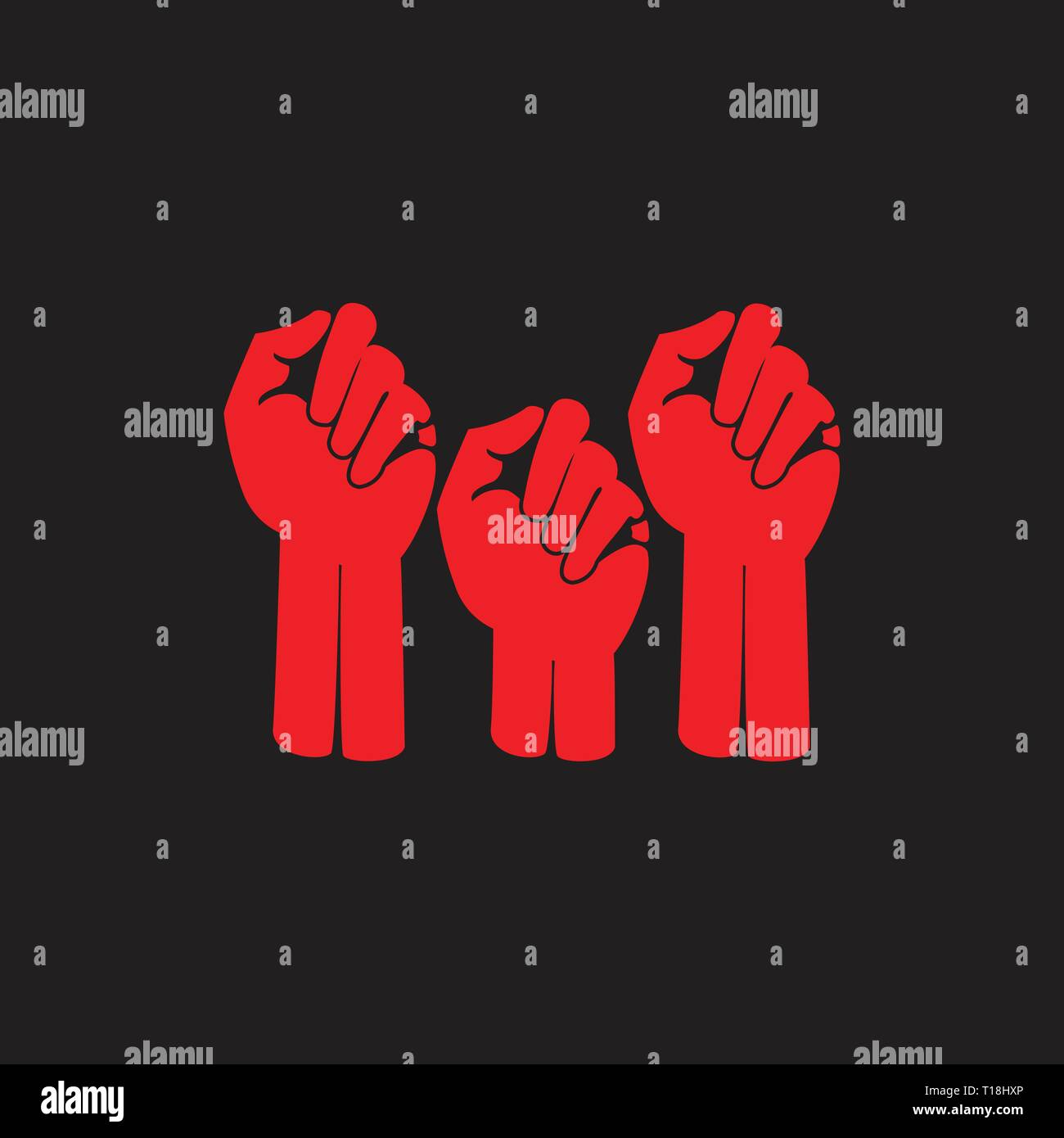 hand fist protest symbol vector - Stock Vector