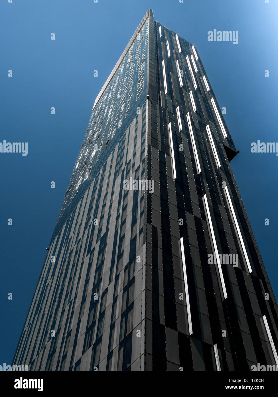 Beetham Tower and Hilton Hotel, Deansgate Manchester.  Skyscraper - Stock Image