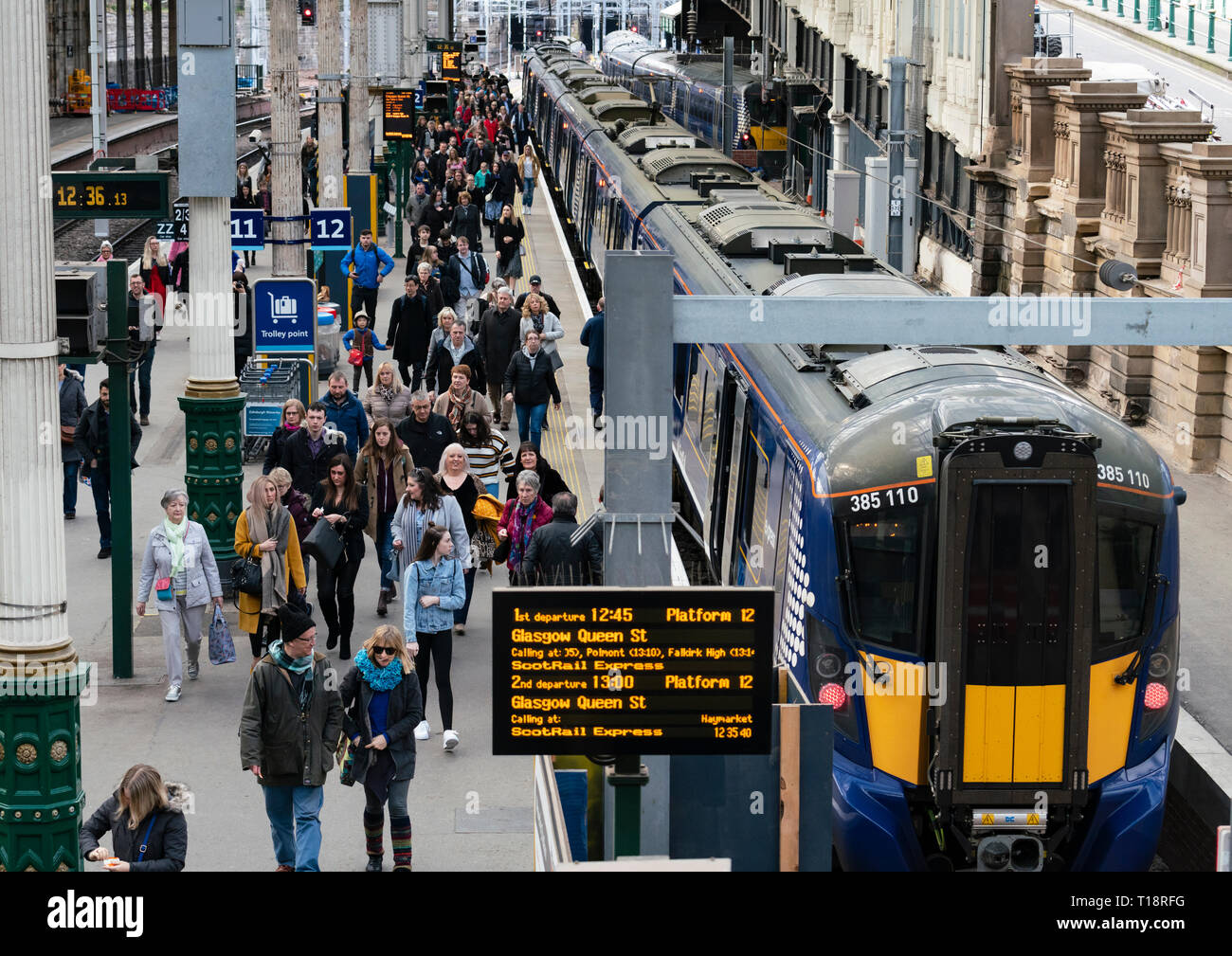 Scotrail Train Interior Stock Photos & Scotrail Train