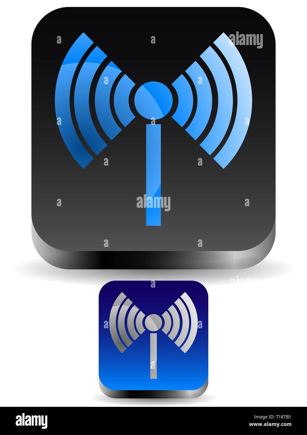 Radio tower, radio transmission, wireless connection