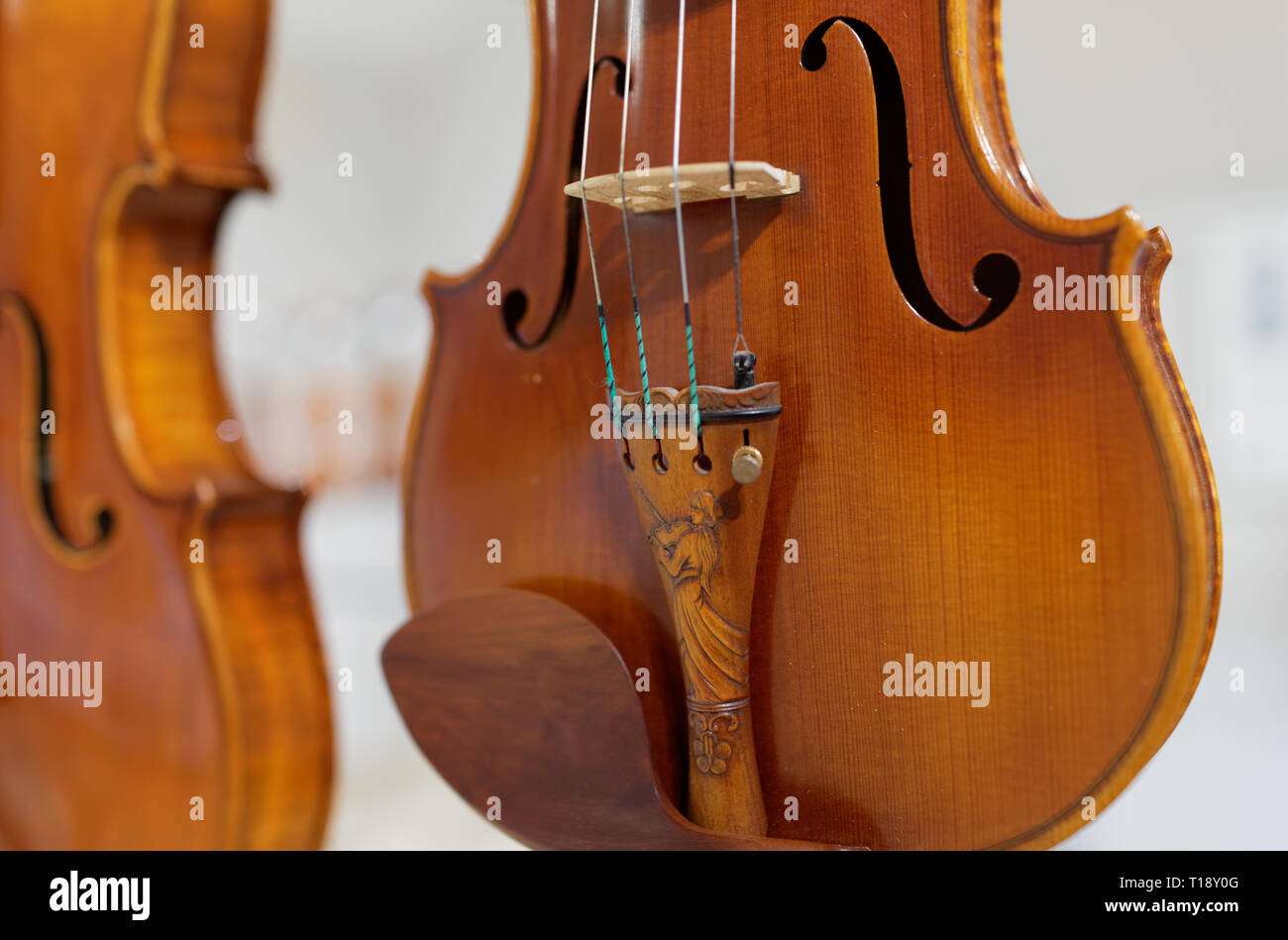 St  Petersburg, Russia - March 18, 2019: Musical instruments on the