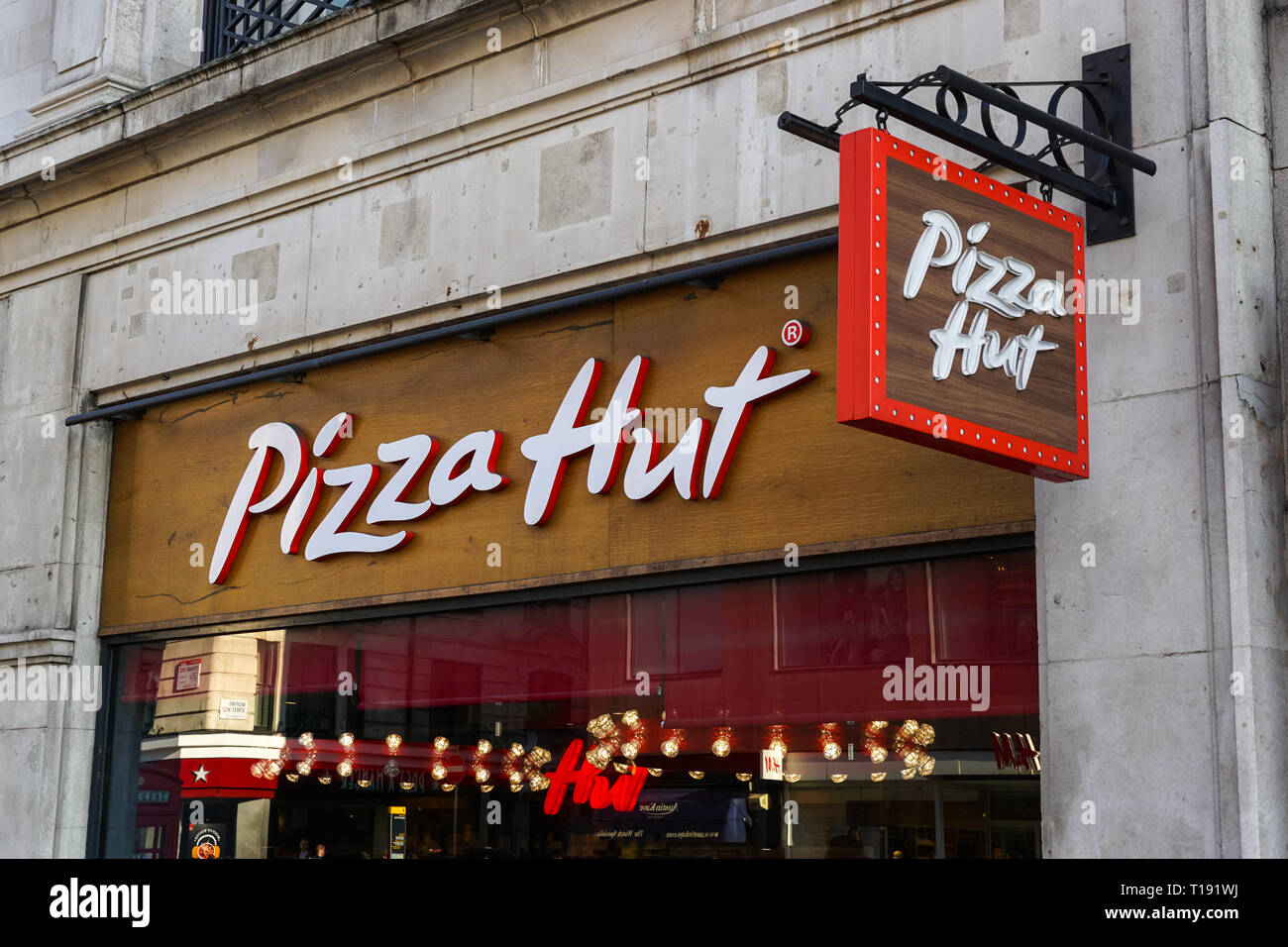 Pizza Hut Restaurant On Strand London England United