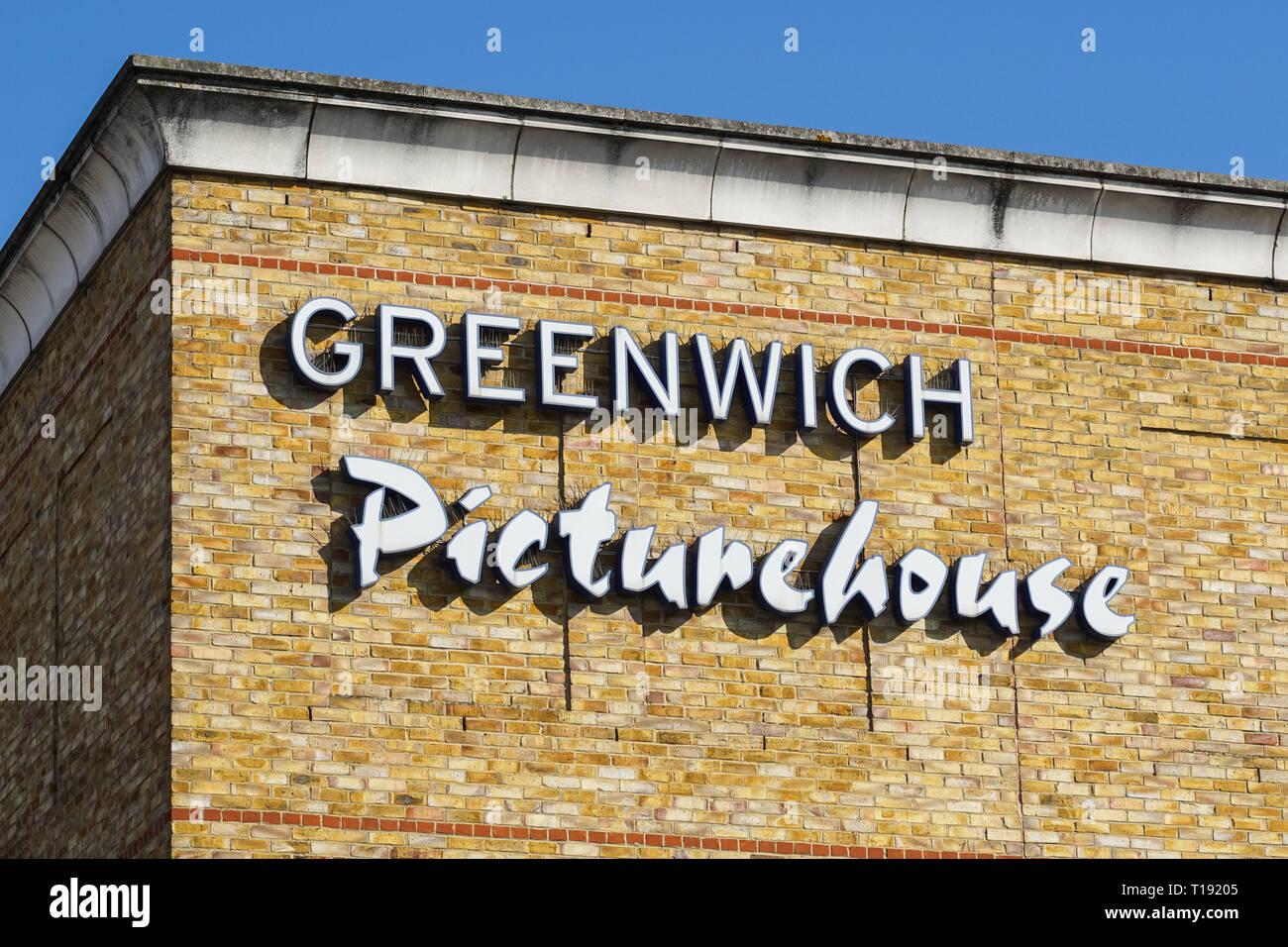 Greenwich Picturehouse, London England United Kingdom UK - Stock Image