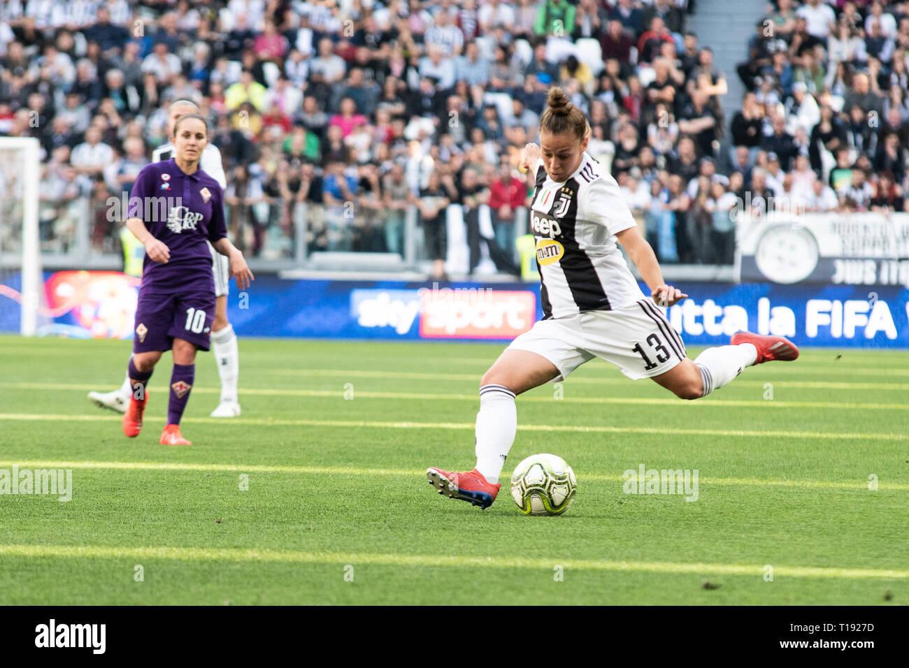 Turin Italy 24th Mar 2019 Lisa Boattin Juventus Women During