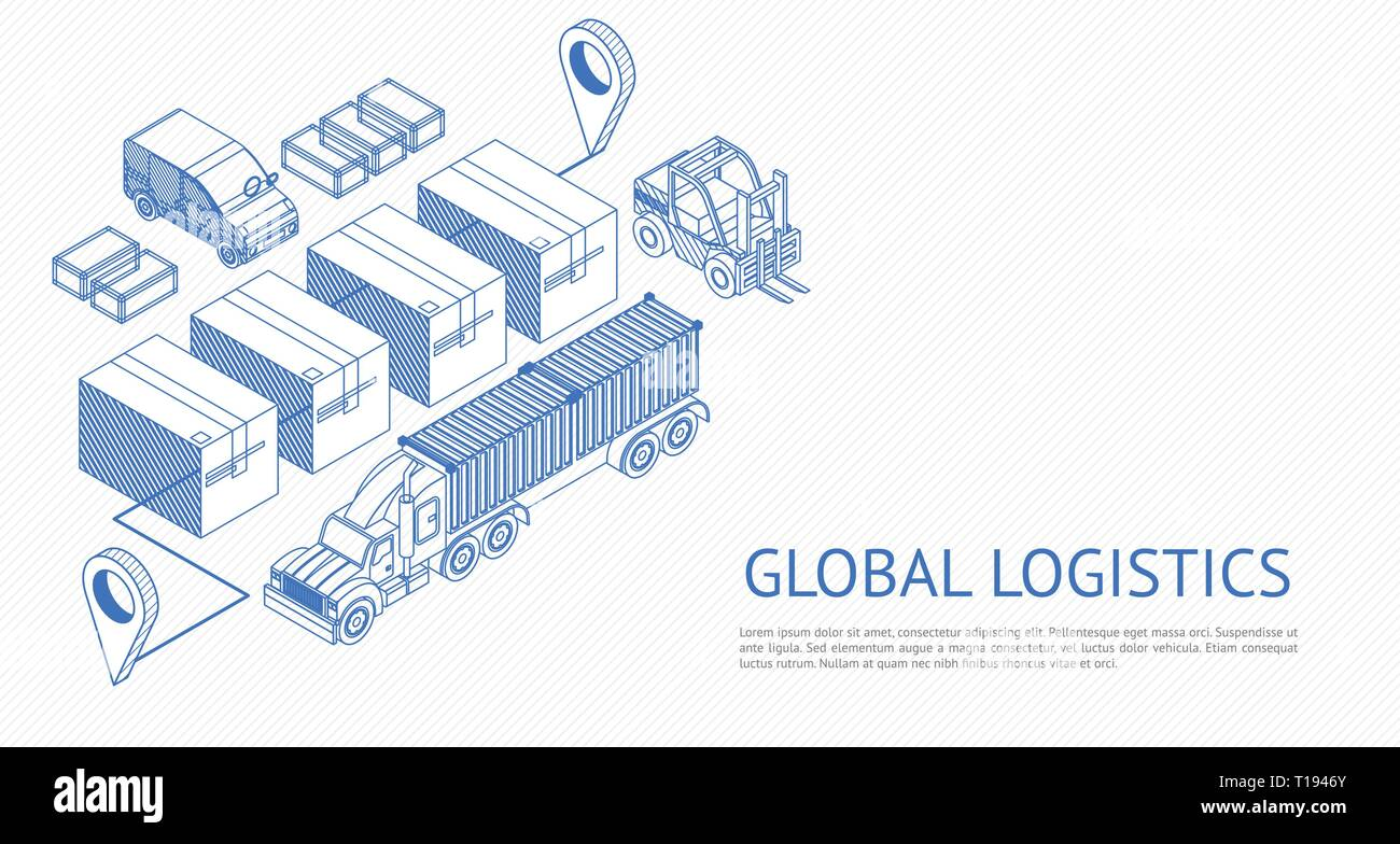 Global logistics vector design - Stock Image