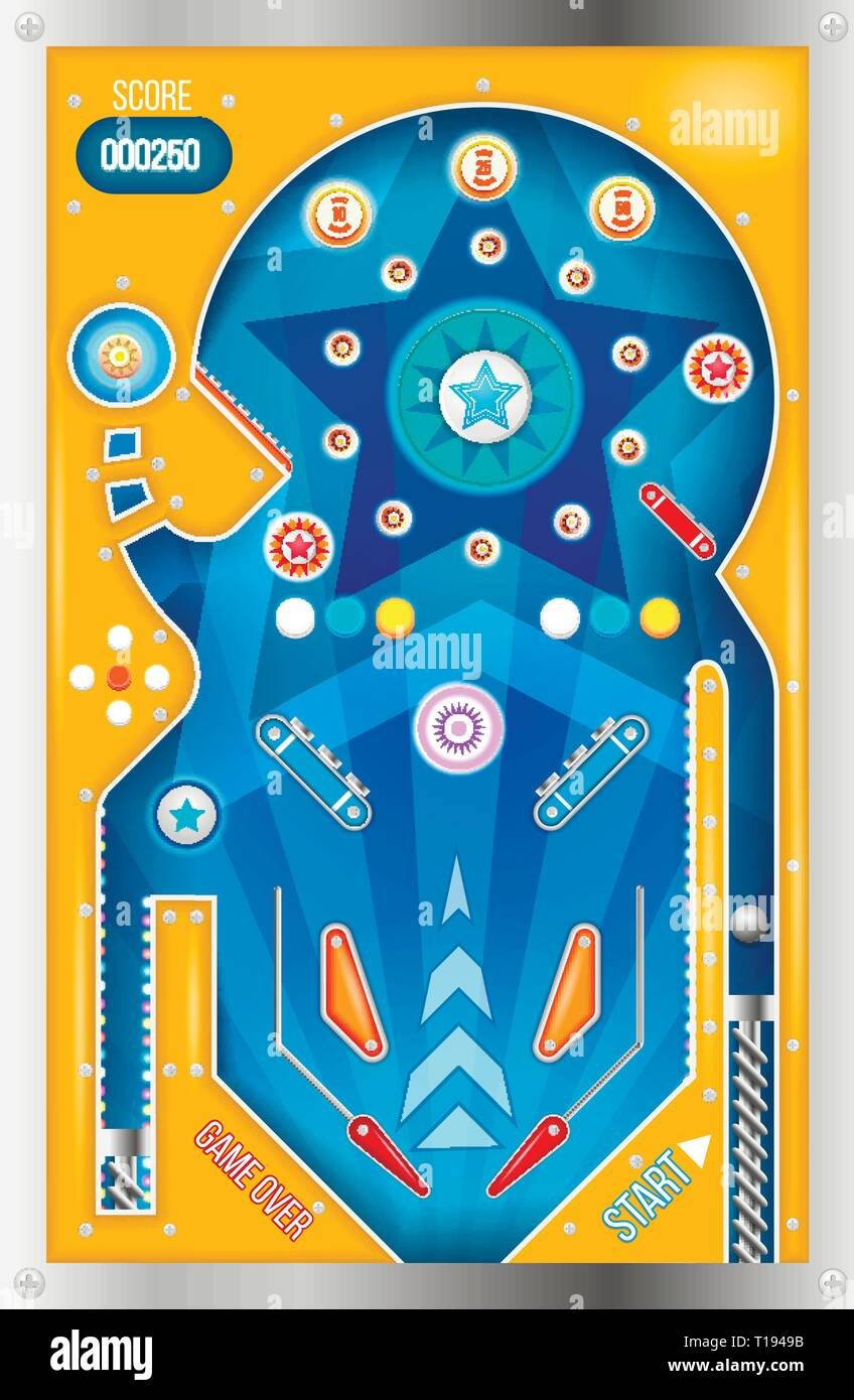 Pinball machine isolated. - Stock Vector