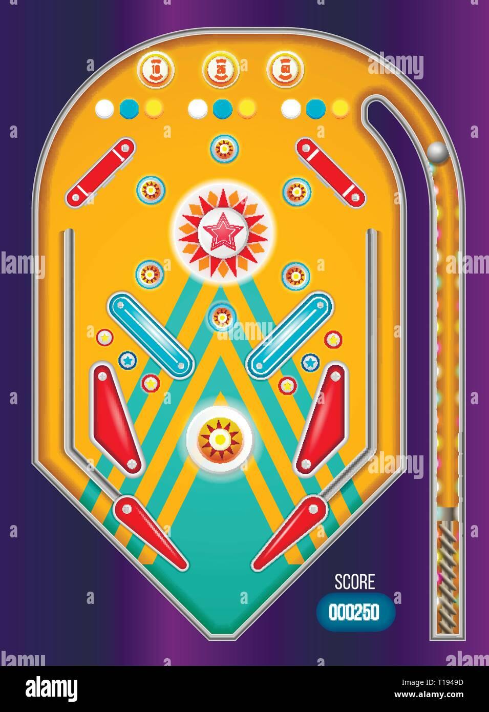 Pinball machine isolated. - Stock Vector
