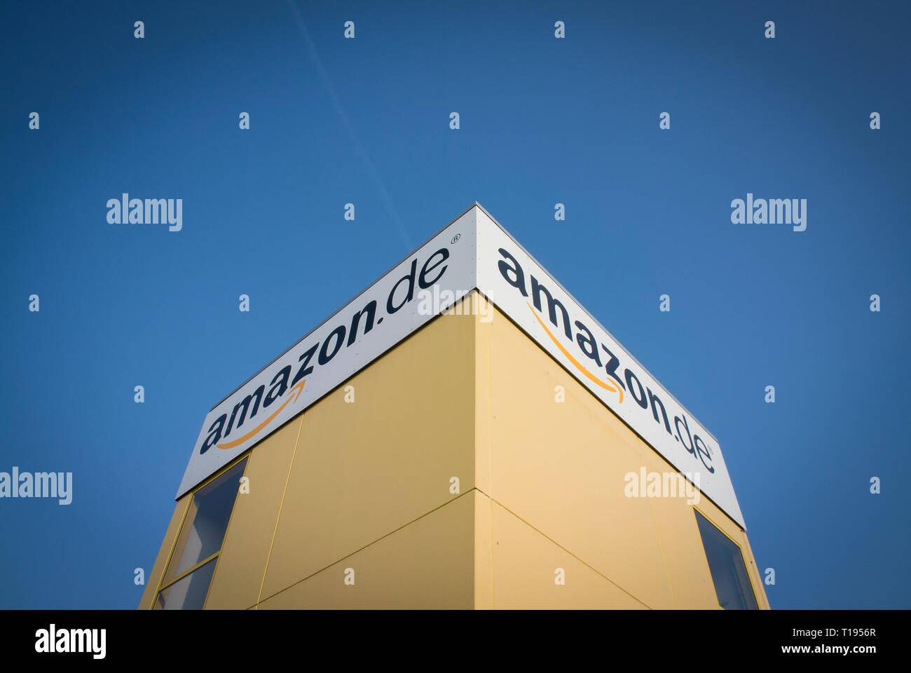 Amazon's distribution centre in Leipzig, Germany. - Stock Image