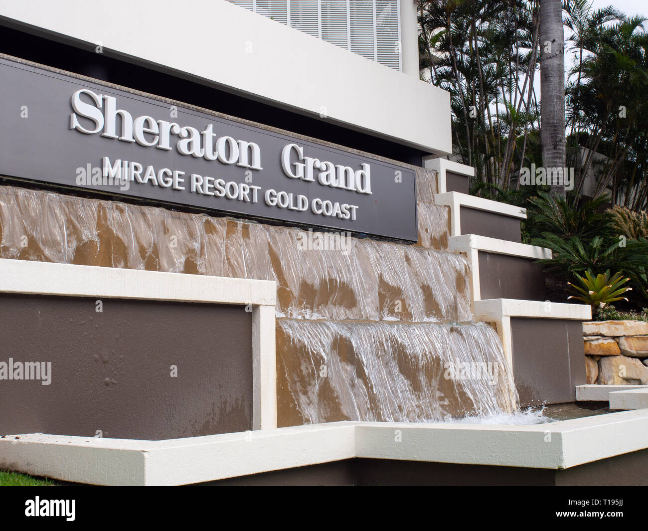 Water Feature At The Sheraton Grand Mirage Resort Gold Coast