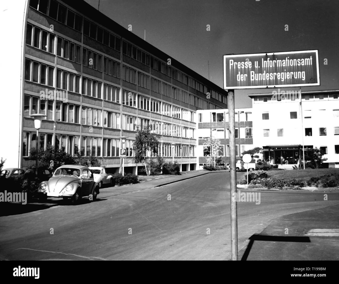 geography / travel historic, Germany, cities and communities, Bonn, buildings, Press and Information Office of the Federal Government, exterior view, 1960s, Additional-Rights-Clearance-Info-Not-Available - Stock Image