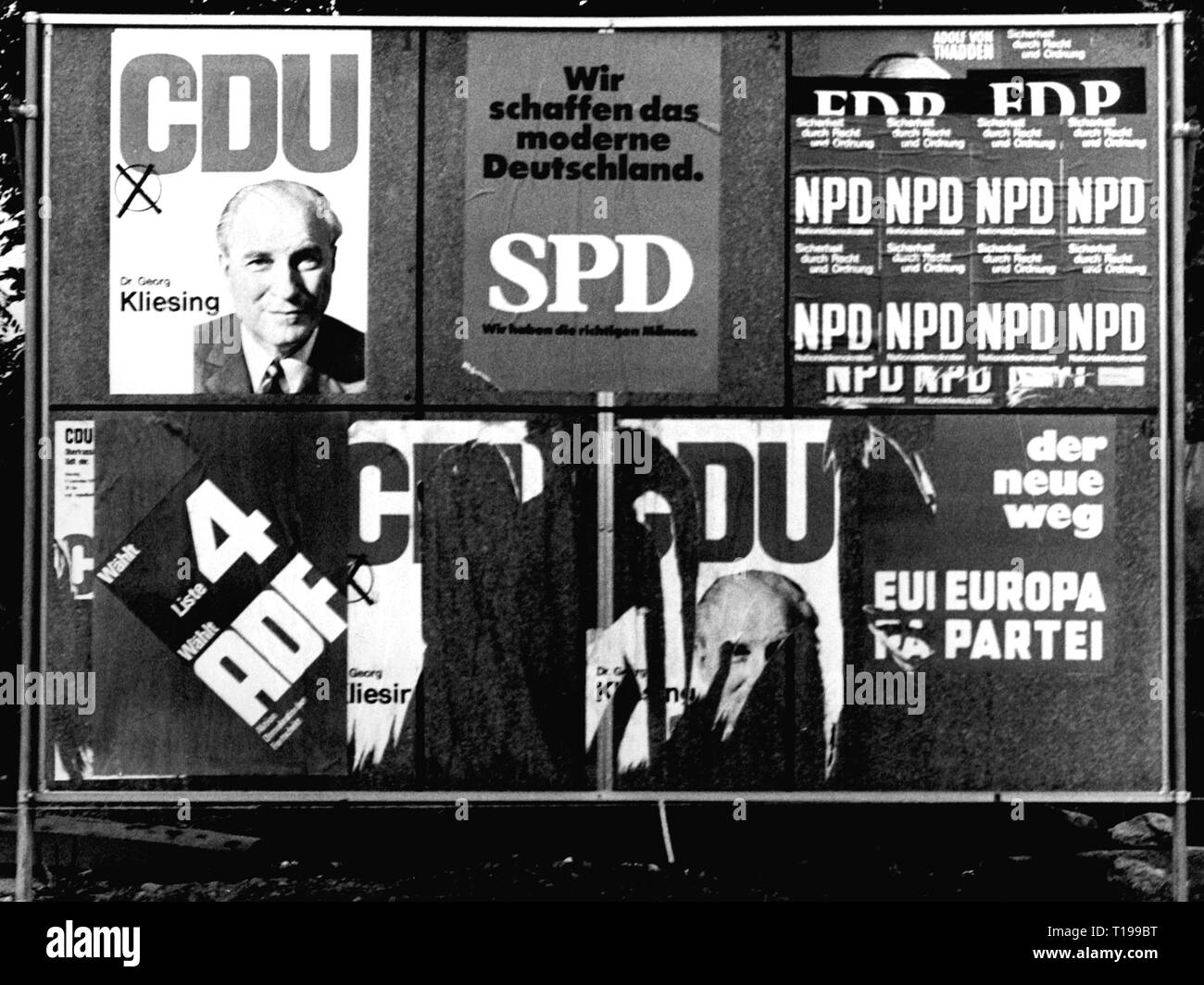 politics, elections, Germany, Election to the Federal Diet 1969, Additional-Rights-Clearance-Info-Not-Available - Stock Image