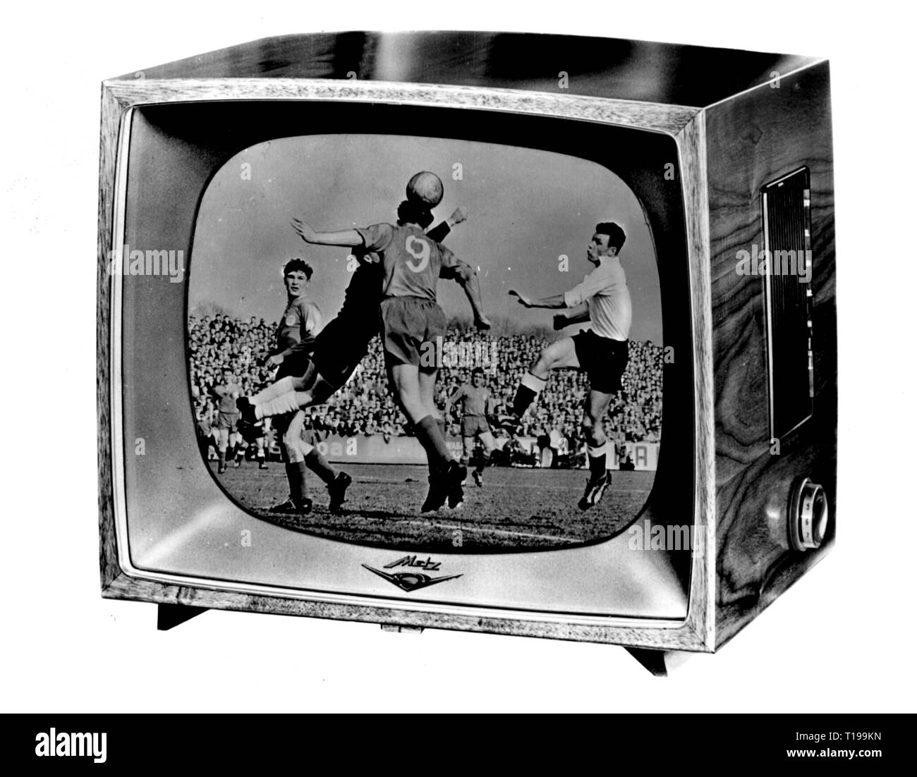 broadcast, television, television set Metz 963E, Germany, 1959, Additional-Rights-Clearance-Info-Not-Available - Stock Image