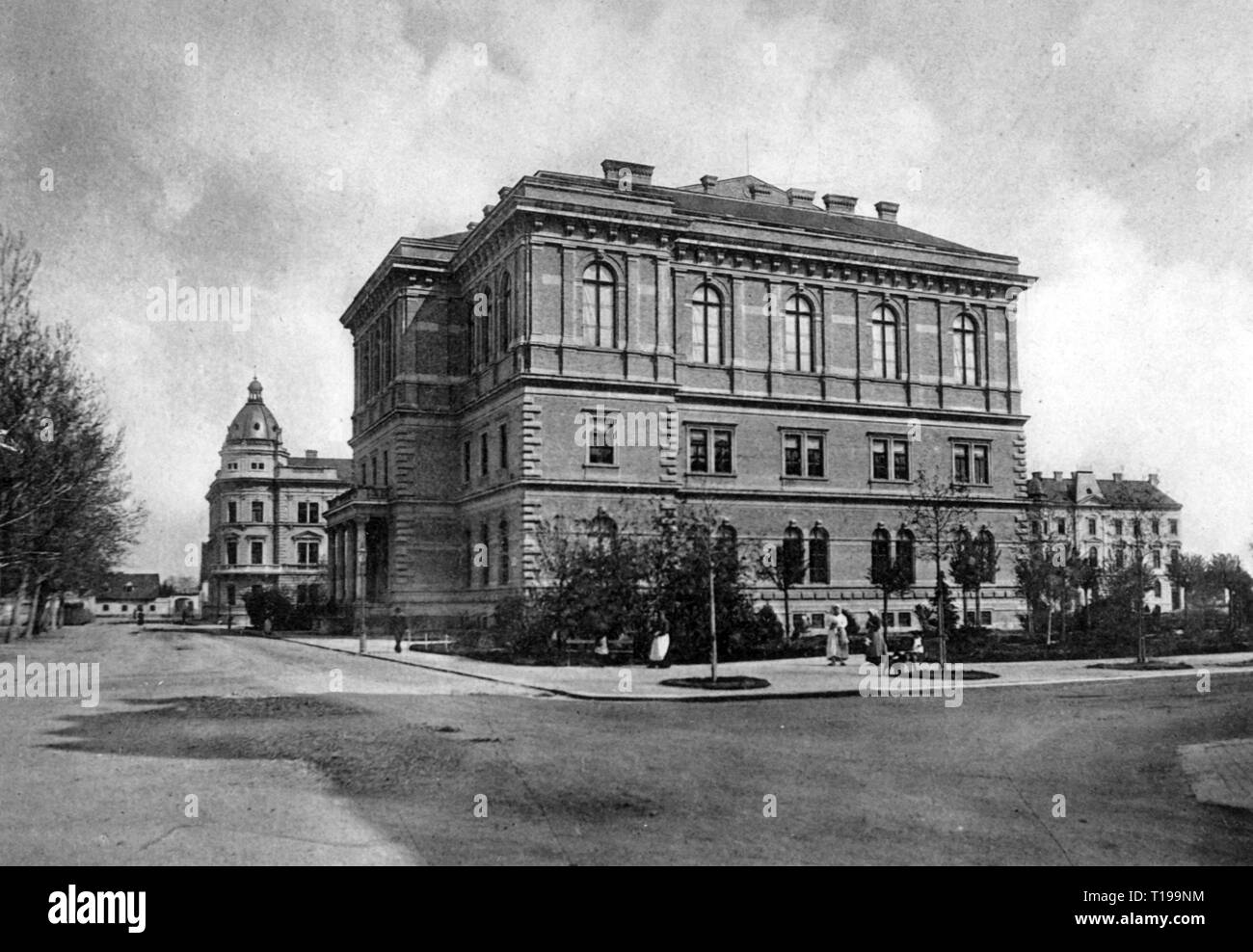 geography / travel historic, Croatia, cities and communities, Zagreb, building, South Slavic Academy, Album Zagreba, publishing house Lavoslav Hartman (Kugli and Deutsch), Zagreb, 1893, Additional-Rights-Clearance-Info-Not-Available - Stock Image