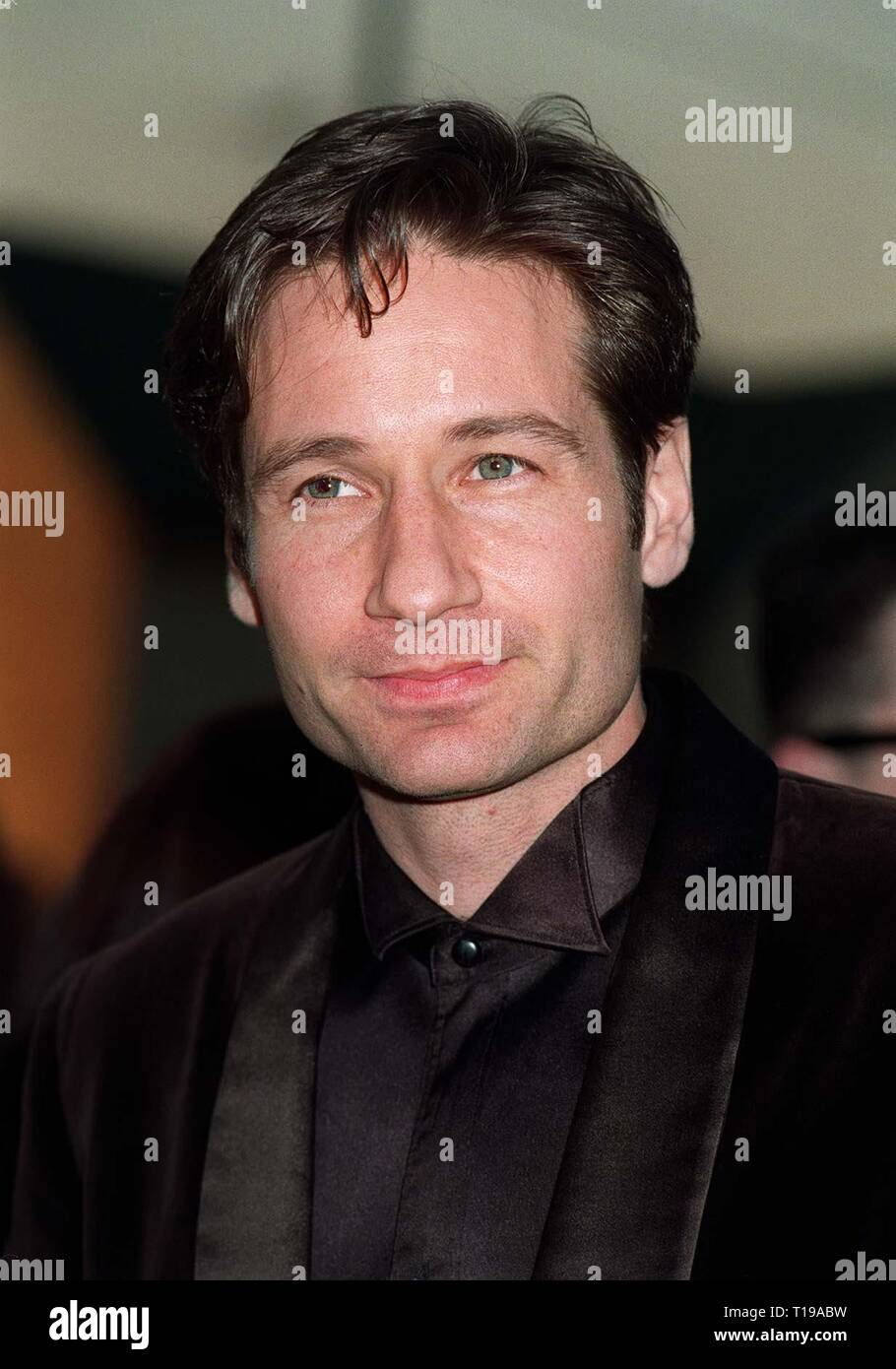 LOS ANGELES, CA. February 23, 1997: X-Files star DAVID DUCHOVNY at the Screen Actors Guild Awards.   Pix: PAUL SMITH - Stock Image