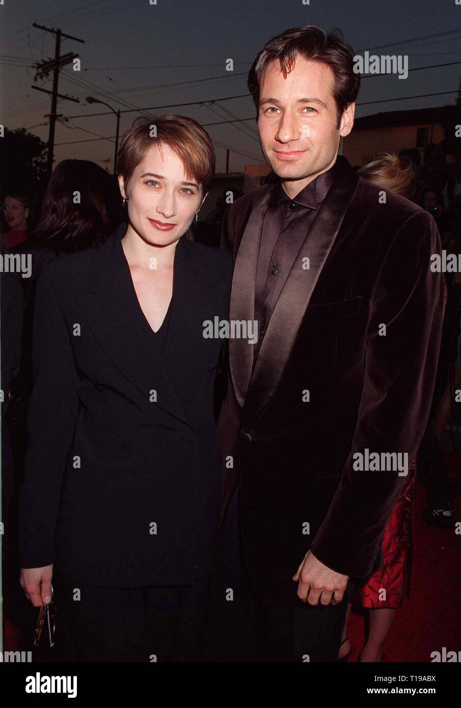 LOS ANGELES, CA. February 22, 1997:  X-Files star DAVID DUCHOVNY & sister at the Screen Actors Guild Awards  in Los Angeles. Pix: PAUL SMITH - Stock Image