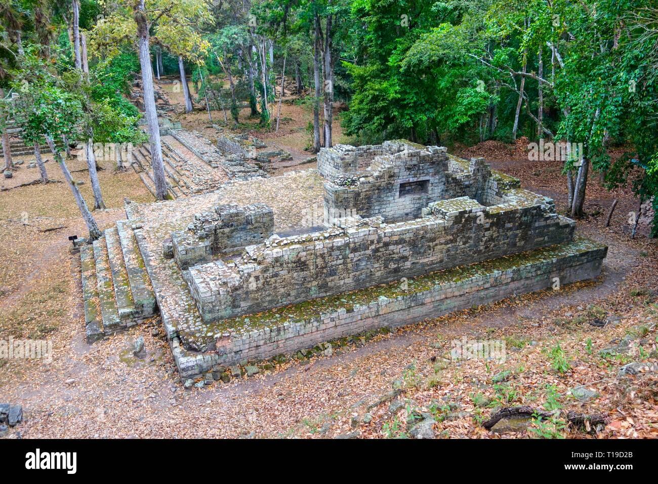 World Famous Copan Ruins Archeological Site of ancient Maya Civilization, a UNESCO World Heritage Site in Honduras near Guatemala Border - Stock Image